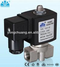 3 way Direct acting solenoid valve normally open