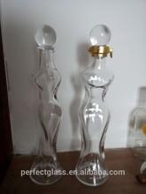 300ml empty vodka glass bottle./vodka crystal glass bottle/glass vodka bottle