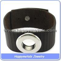 Happymetals wholesale plain plaited leather bracelets for women
