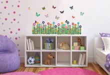Walplus 30x60cm 19 Pieces Colorful Butterflies Garden Grass Wall Stickers art Paper Decal