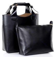 Vintage pu leather celebrity tote bag Hand bag and purse