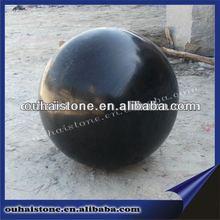 Natural Decorative Granite Black Stone Balls For Garden landscape