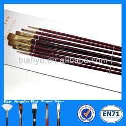 Professional weasel hair brush,brass ferrule artist brush