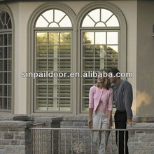 Marvelous Design New Model Beige Color Aluminum Windows with Arch and Grille