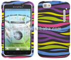 Rainbow Zebra Mobile Protection Cover for Alcatel One Touch 960c