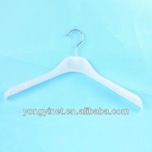 White multi use coat hanger with non slip pads on shoulder