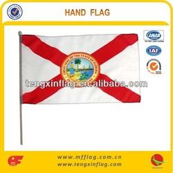 Custom Digital Printing &Shortest Delivery Time Polyester Hand Flag