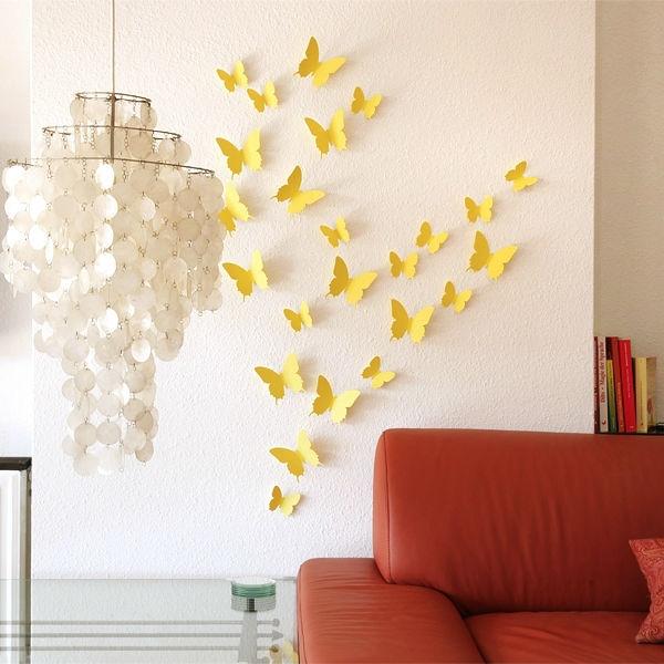 3d mariposa pegatinas de pared mariposas docors arte for Pegatinas 3d pared