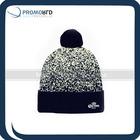 Custom Jacquard Knit Pom Beanie With Embroidery Knit Beanie Cheap