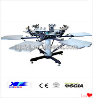 6 color 6 station carousel screen printing machine with mico registration