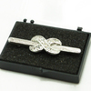 Infinity Stock Pin, Silver with diamontee crystals