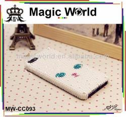 cat rhinestone animal silicone cell phone case