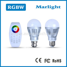 2014 new led bulb 5w manufacturing plant/smart RGB+W led bulb 5w/wireless led rgb 5w wifi control led bulb light