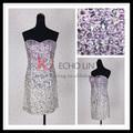 Strapless sexy short ocasiões especiais pedra vestido bordado kt1067