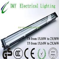 LED glass aluminum weatherproof fixture 2X28W Aluminum
