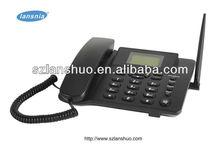 De banda cuádruple 850/900/1800/1900 mhz tarjeta sim gsm teléfono de escritorio