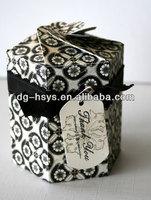 HS octagonal thank you paper box