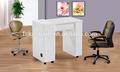 Del arte del clavo de mesa/mesa de uñas pedicura silla/manicura de uñas mesa aspiradoras n055