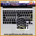 Date portable silicone couvercle du clavier pour apple macbook portable