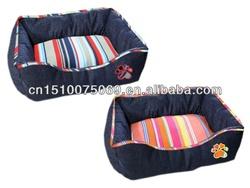 23x19in. Reversible Cotton Canvas/Denim Cuddle Pet Bed