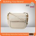 s254 de calidad superior de cuero genuino bolso beige de cuero italiano bolsos hechos en china