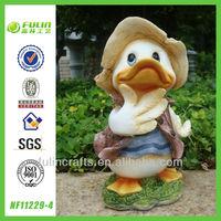 Duck Figurine Resin Cartoon Animal Sculpture