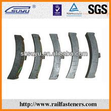 Composite railway brake shoes