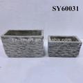 retangular de terracota vasos de barro