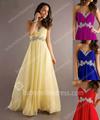 baratos querida vermelho roxo azul royal e amarelo de festa chiffon maxi plus size vestido de noite longo 2013 nova chegada de cristal elegante