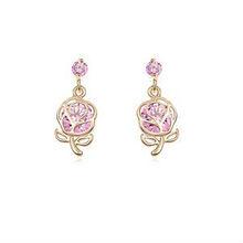 10544 CZ diamond one gram gold jewelry fashion earrings for 1 dollar