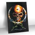 fresco cartoon 3d poster di scheletro umano foto