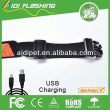 reflective LED flashing seat belt webbing