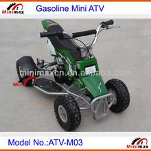Mini ATV Gasoline Mini Cross Quad 49cc 2 stroke 4 wheels Pull Start ATV-M03