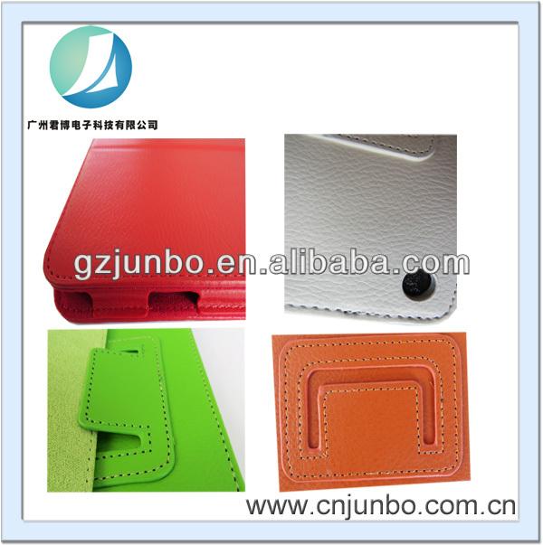 Neues design Buch-Stil flip ledertasche für ipad luft