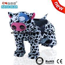 Vaca de leite elétrico animais de pelúcia carro de brinquedo / crianças andam em carro