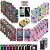 R1162 Pen+Hybrid Rugged Rubber Matte Tuff Camo Hard Case Cover For iPhone 4G 4S 5s 5c w Screen Guard