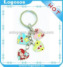 promotion item wedding souvenir gift heart shaped key chains