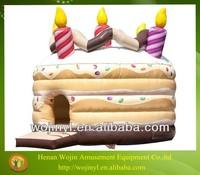 Giant inflatable birthday cake