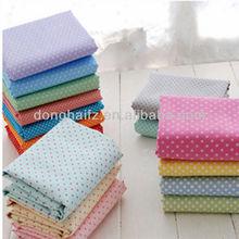 blue white polka dot fabric cotton