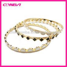 fashion fake gold set bangle with enamel oil drip painting