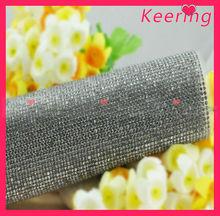 Wholesale iron on crystal mesh fabric rhinestone WRT-016
