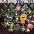 best selling moda plástico transparente seis centímetros bolas de decoração da árvore de natal bolas
