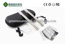 緑の音のエゴジッパーケースステンレス鋼電子タバコエゴ- tb歓迎odm/oem