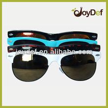2014 Custom wayfarer bamboo sunglasses bamboo temples with platice frame sunglasses