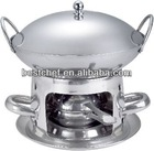 stainless steel Alcohol stove with pot