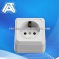 Medidor de electricidad del zócalo, montado en la pared del zócalo cajas