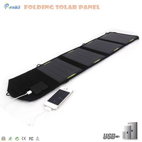 14W Portable Foldable Universal Solar Power Charger for laptop and mobile phone :PETC-S14T