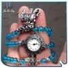Ladies Vintage Watch Pendant Wristwatches Analog Beads Strap Hours Quartz Watch Bead Bracelet Watches