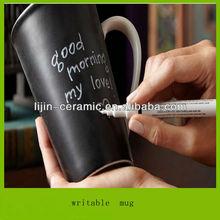 LJ-4262 writable ceramic mug with pen