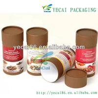 elegant kraft paper coffee packaging canister